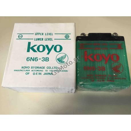 Μπαταρία Μοτοσυκλέτας KOYO - 6N6-3B 6V 6Ah