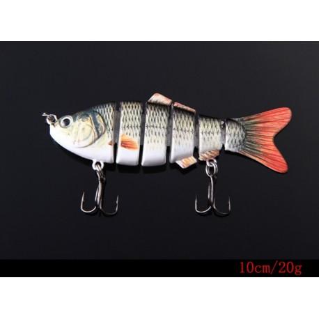 Ψαράκι 10cm / 20g με 6 Αρθρωτά τμήματα