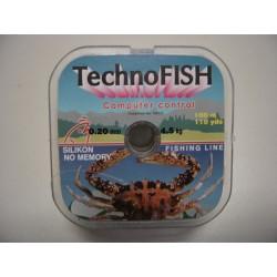 Μισινέζα Ψαρέματος TechnoFISH - 100m / Από 0,20-0,50 mm / 4.5kg
