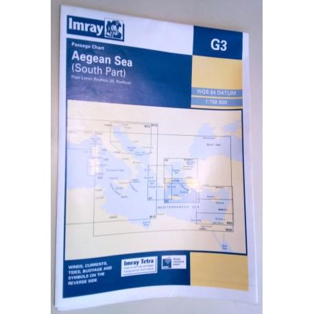 Πλοηγικός Ναυτικός Χάρτης G3 Imray Νότιο Αιγαίο